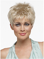 cheap -Synthetic Wig Straight Style Pixie Cut Wig Blonde Blonde Synthetic Hair Women's With Bangs Blonde Wig Short StrongBeauty