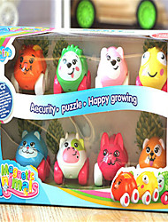 cheap -puzzle educational cartoon animal toy car small animal magnetic polarity 8 pack