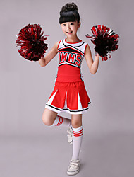 cheap -Cheerleader Costumes Outfits Performance Cotton / Spandex Pattern / Print Sleeveless High Top / Skirt
