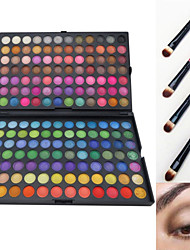 abordables -168 couleurs Fards à Paupières Poudres Pinceaux de Maquillage Mat Lueur Œil Mat Lueur Brillant enfumé Etanche Gloss pailleté Gloss coloré Maquillage Quotidien Maquillage d'Halloween Maquillage de Fête