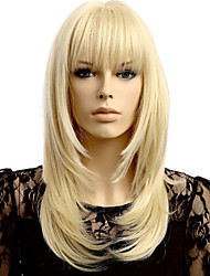 cheap -Synthetic Wig Straight Straight Wig Blonde Medium Length Blonde Synthetic Hair 20 inch Women's Blonde StrongBeauty