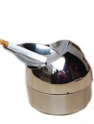 Недорогие -металлический цилиндр из нержавеющей стали сигареты сигары пепельницу серебряный тон
