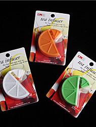 Недорогие -organge форма ситечко фильтр-мешок лимона пластиковый чай заварки случайным образом цвет