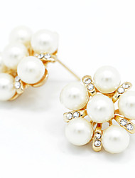 cheap -Women's Crystal Stud Earrings Stylish Classic Imitation Pearl Earrings Jewelry Rose Gold For Party Special Occasion Party / Evening 1 set