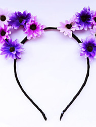 cheap -Women's Floral Party Jewelry Flower Style Fabric Alloy Headbands Fascinators forehead jewelry Wedding Party