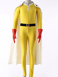 cheap -Inspired by One-Punch Man Cosplay Anime Cosplay Costumes Japanese Cosplay Suits Solid Colored Leotard / Onesie / Gloves / Belt For Men's / Women's / Cloak / More Accessories / Cloak