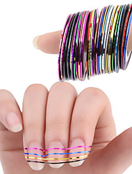 cheap -30 pcs Nail Foil Striping Tape nail art Manicure Pedicure Punk / Fashion Daily / Foil Stripping Tape