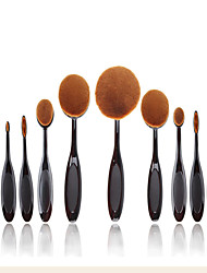 cheap -Professional Makeup Brushes Makeup Brush Set 10 Travel Eco-friendly Professional Full Coverage Plastic for Makeup Brush Set
