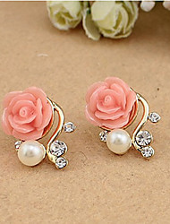 cheap -Women's Stud Earrings Resin Earrings Jewelry White / Pink For Daily Casual