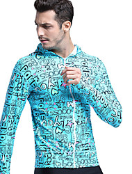 cheap -SBART Men's SPF50 UV Sun Protection Quick Dry Long Sleeve Swimming Diving Surfing Cartoon Spring Summer Fall