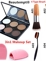 cheap -6 Colors Powders Bronzers Highlighters Dry / Matte / Combination Waterproof / Breathable / Whitening Face China Mirror Makeup Cosmetic