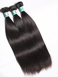 cheap -3 Bundles Malaysian Hair Straight Virgin Human Hair Natural Color Hair Weaves / Hair Bulk 8-30 inch Human Hair Weaves Soft Human Hair Extensions / 10A