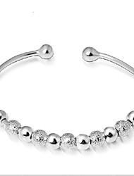 cheap -Women's Cuff Bracelet - Silver Plated Bracelet Silver For Wedding