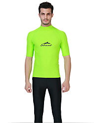 cheap -SBART Men's Sun Shirt Top UV Sun Protection Ultraviolet Resistant Short Sleeve Swimming Diving Surfing Spring Summer Fall