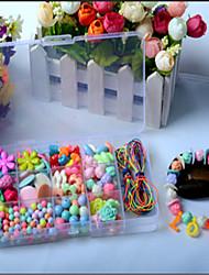 Недорогие -детские развивающие игрушки 15 бисерные коробка ювелирных изделий