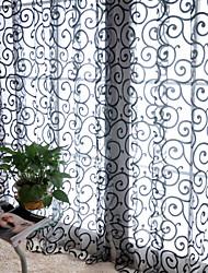 abordables -Rideaux Tentures Un Panneau W99cm×L200cm Blanc / Salle de séjour