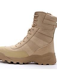 cheap -Men's Hiking Shoes Hiking Boots Waterproof Anti-Slip Cushioning Wearproof High-Top Hiking Spring Fall Winter Black Khaki