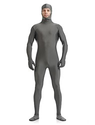 cheap -Zentai Suits Skin Suit Full Body Suit Ninja Adults' Spandex Lycra Cosplay Costumes Sex Men's Women's Black / White / Purple Solid Colored Halloween / High Elasticity