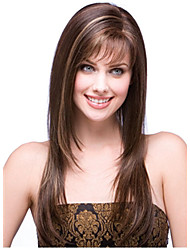 cheap -Synthetic Wig Straight Straight Wig Long Synthetic Hair Women's Brown StrongBeauty
