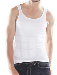 cheap -Men's Tank Top Solid Colored Plus Size Sleeveless Daily Tops White Black