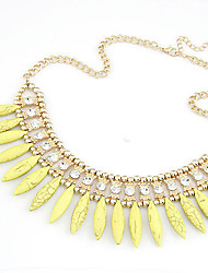 cheap -Women's Pearl Statement Necklace Pearl Necklace Statement Ladies European Fashion Pearl Resin Alloy Yellow Red Blue Necklace Jewelry For Party