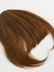 Недорогие -Черный Средний коричневый Чёлки Бахрома 0.25kg Натуральные волосы Волосы Наращивание волос