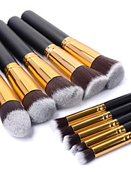 cheap -Professional Makeup Brushes Makeup Brush Set 10pcs Portable Travel Eco-friendly Professional Full Coverage Wood Makeup Brushes for Blush Brush Foundation Brush Eyeshadow Brush Concealer Brush Makeup