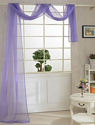 cheap -One Panel Curtain Country , Solid Living Room Polyester Material Sheer Curtains Shades Home Decoration For Window