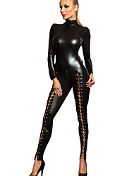 cheap -Women's More Costumes Sexy Uniforms More Uniforms Sex Zentai Suits Cosplay Costume Catsuit Solid Colored Leotard / Onesie / Leather