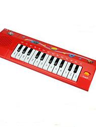 Недорогие -электронная музыка орган игрушка пластик красный / черный / белый
