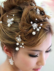 cheap -Pearl Hair Clip / Hair Pin with Pearls 1pc Wedding / Special Occasion Headpiece