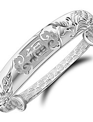 cheap -Women's Bracelet Bangles - Silver Plated Bracelet Silver For Wedding