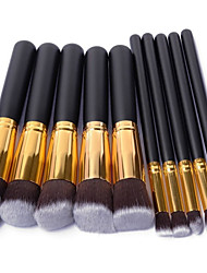 cheap -Professional Makeup Brushes Makeup Brush Set 10 Portable Travel Eco-friendly Professional Full Coverage Wood for Blush Brush Foundation Brush Eyeshadow Brush Concealer Brush Makeup Brush Set Powder