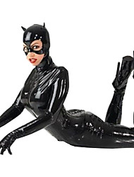 cheap -Women's Bat Movie / TV Theme Costumes Career Costumes Sexy Uniforms More Uniforms Sex Zentai Suits Cosplay Costume Solid Colored Leotard / Onesie Gloves Mask