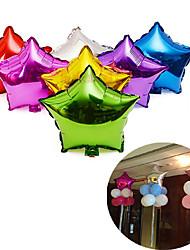 Недорогие -10шт воздушный шар алюминиевой фольги пятиконечная звезда надувные воздушные шары 10 дюймов игрушка свадьбы (случайный цвет)