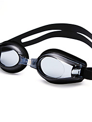 cheap -Swimming Goggles Waterproof Anti-Fog Adjustable Size Prescription UV Protection Mirrored For Silica Gel PC Blacks Blues Transparent