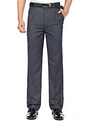 abordables -Homme Basique Quotidien Formel Travail Costume / Droite / Mince Pantalon - Couleur Pleine Coton gris foncé Gris Clair 36 38 35