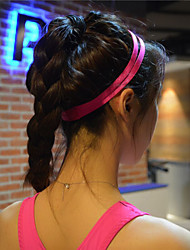 cheap -Women Men yoga hair bands Sports Headband Anti-slip Elastic Rubber Sweatband Football Yoga Running Biking