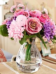 cheap -Silk European Style Bouquet Tabletop Flower Bouquet 10