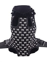 cheap -Cat Dog Carrier Bag Travel Backpack Front Backpack Portable Breathable Bowknot Nylon Black Pink