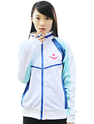 cheap -Inspired by Free! Cosplay Anime Cosplay Costumes Japanese Cosplay Hoodies Print Long Sleeve Coat For Men's / Women's