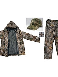 cheap -Hunting Jacket with Pants Men's Waterproof / Thermal / Warm / Shockproof Classic / Fashion / Camouflage Winter Fleece Clothing Suit Long Sleeve for Hunting / Fishing