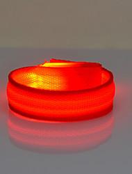 Недорогие -Светоотражающая полоска / отражатели безопасности / LED браслет для бега Ночное видение АБС-пластик для Велосипедный спорт Красный Работает от солнечной энергии