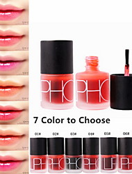 abordables -1 pcs 7 couleurs Maquillage Quotidien Liquide Rougir Brillant à Lèvres Sec / Humide / Mat Etanche / Respirable / Séchage rapide Maquillage Cosmétique Accessoires de Toilettage