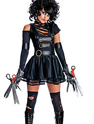 cheap -Edward Scissorhands Cosplay Costume Party Costume Women's Sexy Uniforms More Uniforms Halloween Carnival New Year Festival / Holiday Leather Patent Leather Black Women's Carnival Costumes Solid