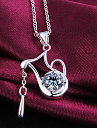 cheap -Women's Pendant Necklace Sterling Silver Silver Necklace Jewelry For
