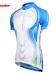 cheap -TASDAN Men's Short Sleeve Cycling Jersey Blue Bike Jersey Sleeves Top Mountain Bike MTB Road Bike Cycling Breathable Quick Dry Sweat-wicking Sports 100% Polyester Clothing Apparel / Stretchy