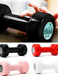 cheap -1 Pc LED display Dumbbell Home Supplies Creative Lazy Sport Design Alarm Clock Dumbbell Alarm Clock