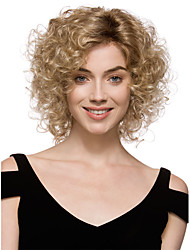 cheap -Synthetic Wig Curly Style Wig Blonde Synthetic Hair Women's Wig Short StrongBeauty