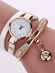 cheap -Women's Fashion Watch Bracelet Watch Quartz Hollow Engraving PU Band Analog Elegant Black / White / Blue - Red Green Light Blue